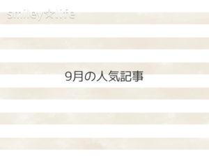 9月の人気記事ランキング☆ダイソー珪藻土マットがダントツ