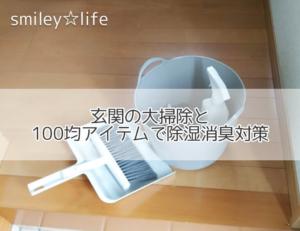 玄関の大掃除と100均アイテムで除湿消臭対策