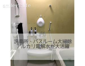 洗面所・バスルーム大掃除 アルカリ電解水が大活躍